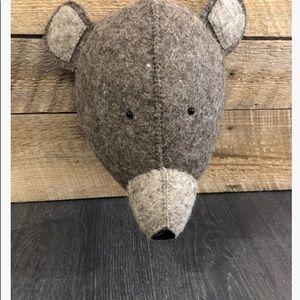 Funny decorative bear head
